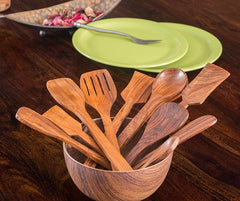 Wooden Cutlery Set of 10 pcs