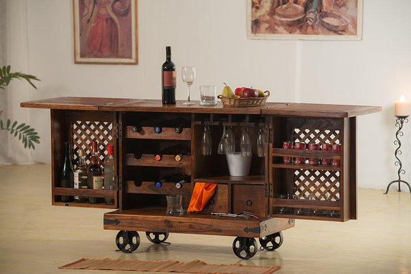 Solid Wood Jali Bar Tully