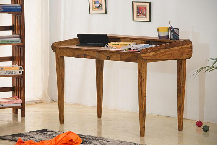 Buy Solid Wood Office Desk Study Table Online New Launches Study