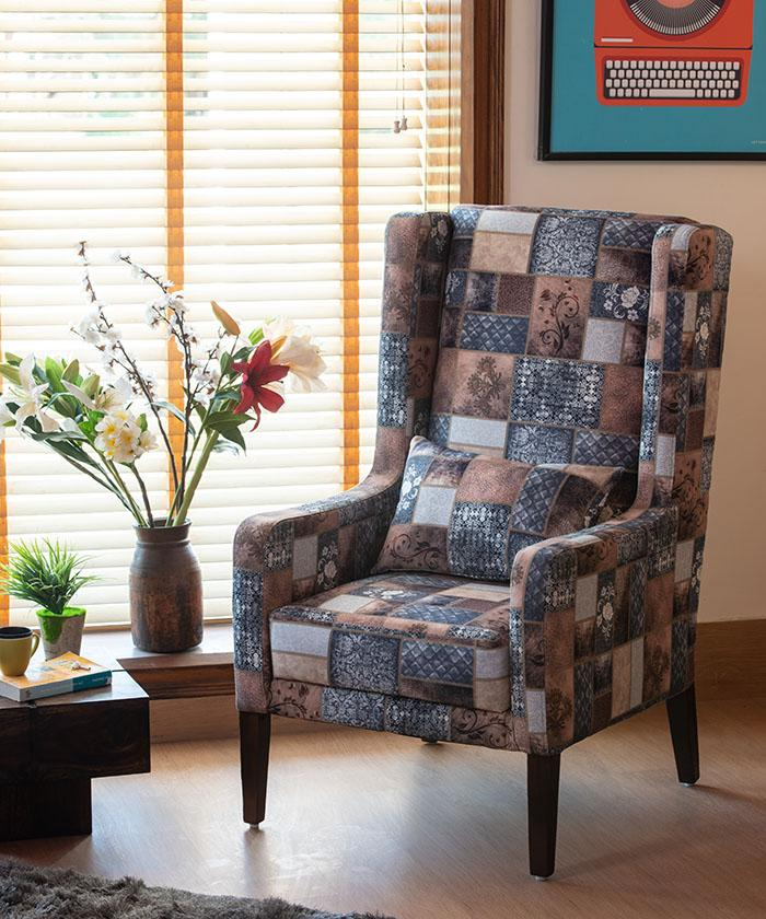 Set of 2 Europea Dusk Wing Chair