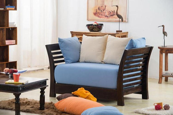 Solid Wood Slant Sofa Set