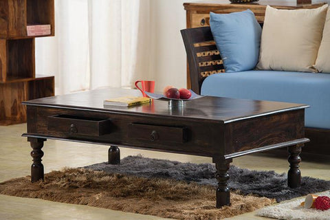 Solid Wood Jaipur 2 Drawer Coffee Table