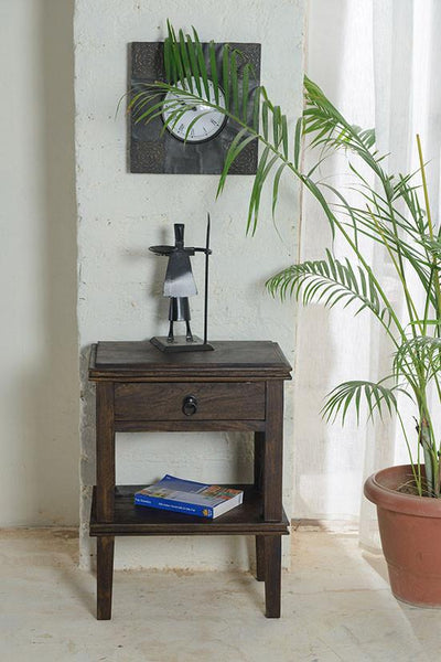 Solid Wood New Crossia Bedside Table