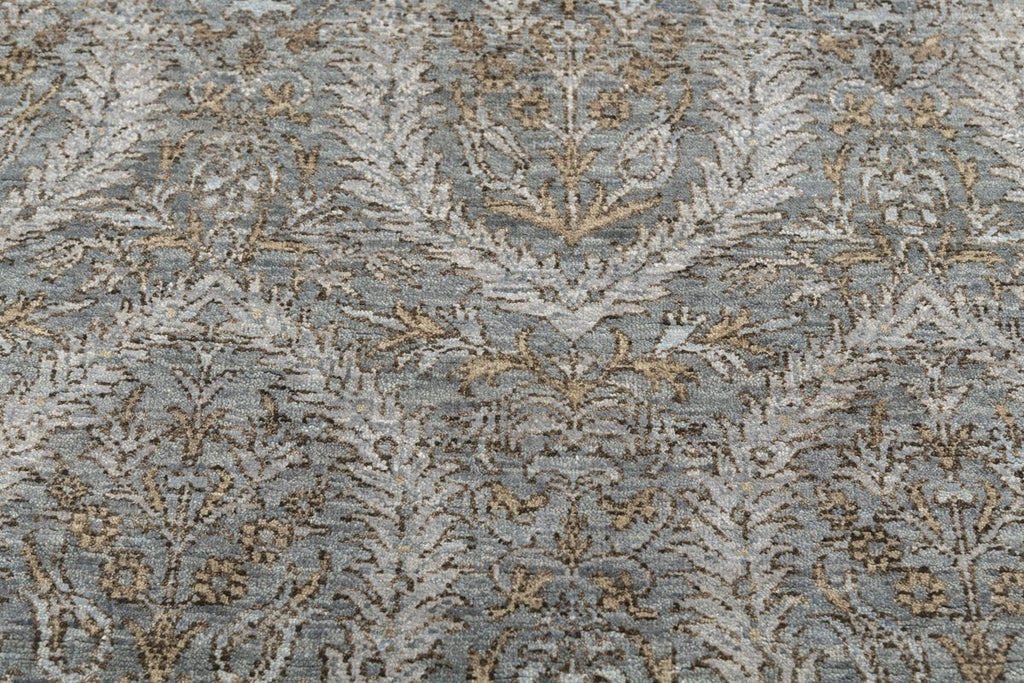 Luxury - Tattvam Grey Bronze New Zealand Wool Hand Knotted Premium Carpet