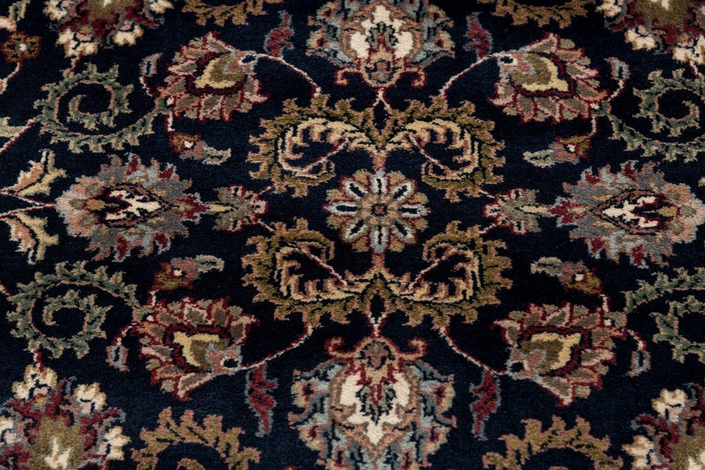Luxury - Reign Navy Blue Ivory New Zealand Wool Hand Knotted Premium Carpet