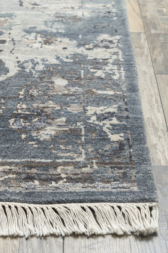 Luxury - Boheme Blue Silver Pure Silk & Wool Hand Knotted Premium Carpet