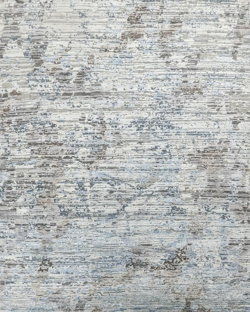 Luxury - Salix Grey Blue Pure Silk & Wool Hand Knotted Premium Carpet