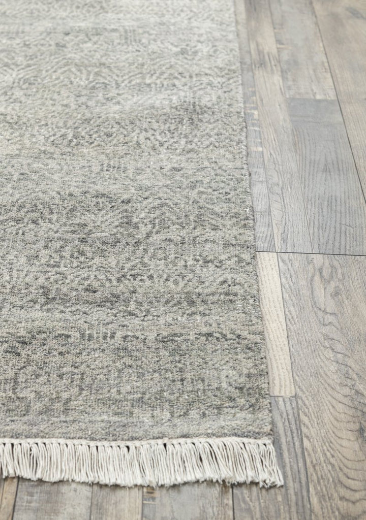 Luxury - Brienne Grey New Zealand Wool Hand Knotted Premium Carpet
