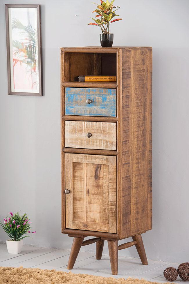 Solid Wood Country EVA Tall Drawer Chest