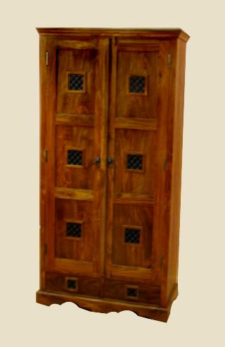 Solid Wood Jali Wardrobe