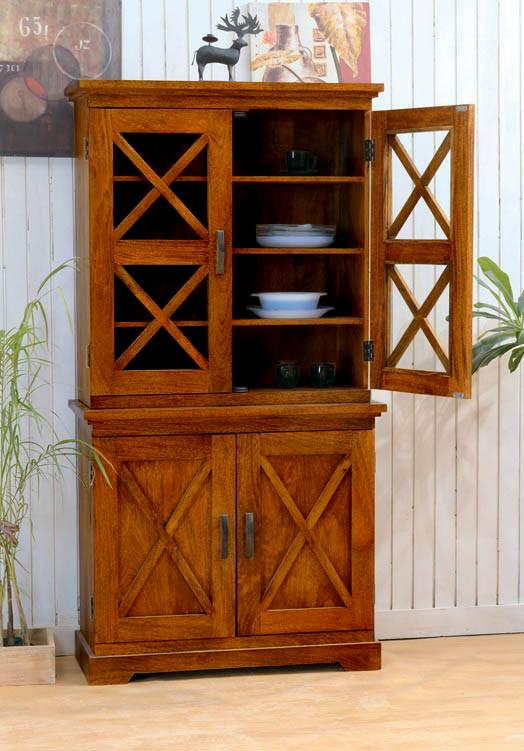 Solid Wood Crossia Kitchen Cabinet