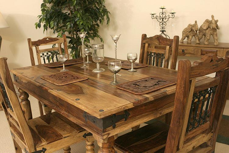 Solid Wood Jali Dining Set 6 Seater