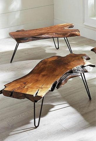 Solid Wood INDIANA Walker Coffee Table