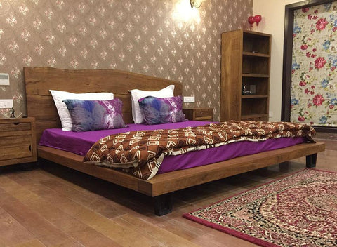 Solid Wood INDIANA Live Platform Bed
