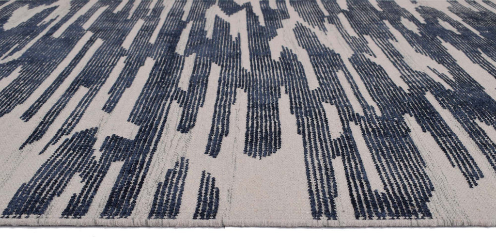 Reflection Blended Wool+ Viscose Handwoven Panja Dhurry Carpet 7.5 x 5