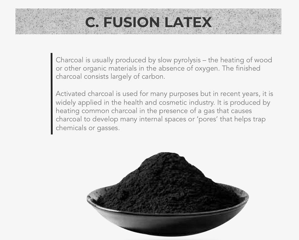 Charcoal Infused 100% Natural Latex Dunlop Pillows