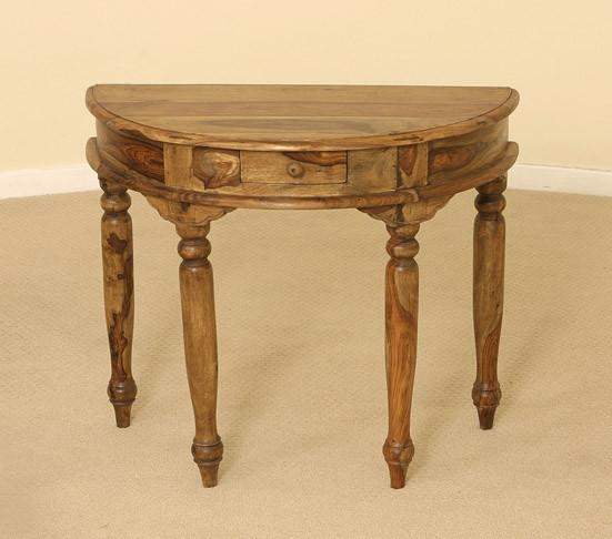 Solid Wood Half Round Console Table