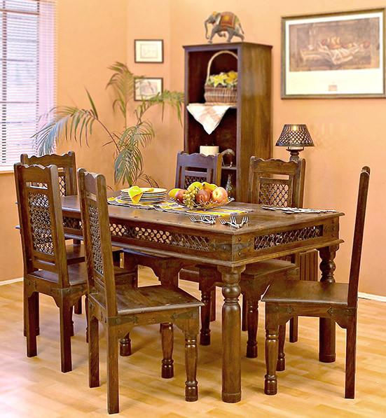 Jali Dining Set Solid Wood Furniture Buy Dining Table Online