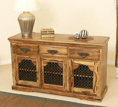 Solid Sheesham Wood Sideboard