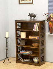 Solid Wood Jali Bookcase