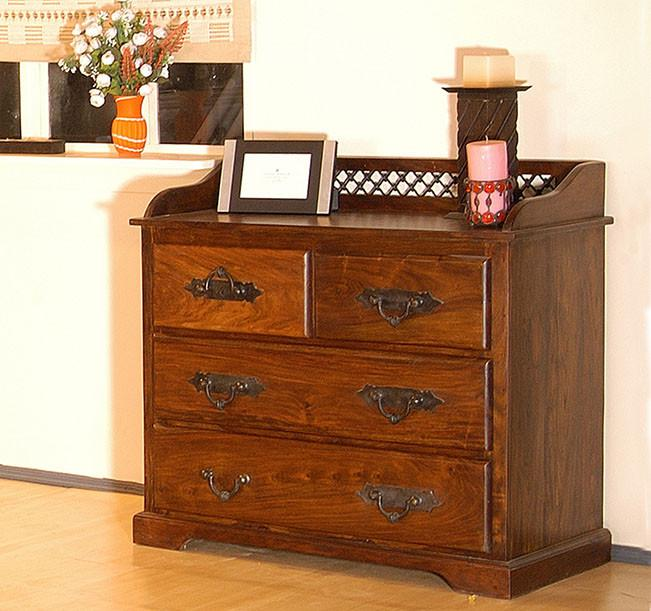 Solid Wood Jali Dresser