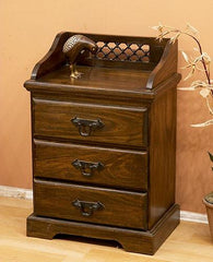 Solid Sheesham Wood Bedside Table