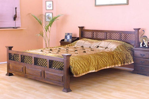 Solid Wood Jali Bed