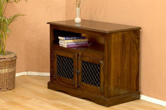 Solid Wood Jali Small Tv Cabinet
