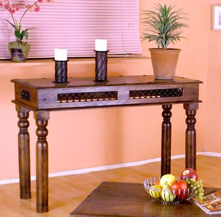 Solid Wood Jali Console Table