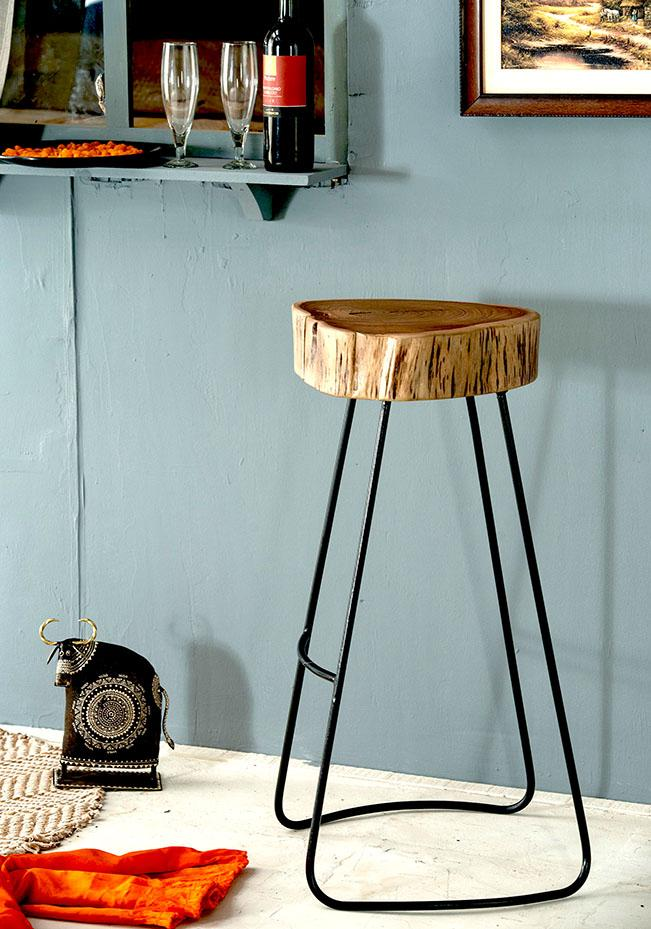 Solid Wood INDIANA Bar Stool / Bar Chair