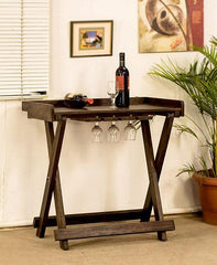 Solid Sheesham Furniture - Kuber Bar Trolley / Table