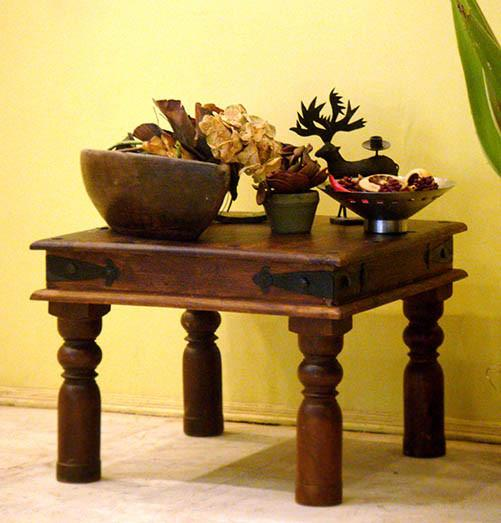 Solid Wood Jaipur Lamp Table