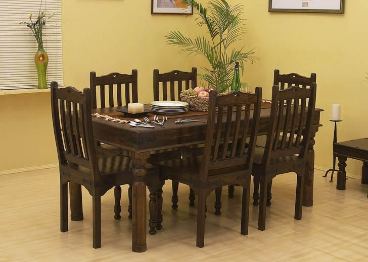 6 Seater Set (Table + 6 Chairs)