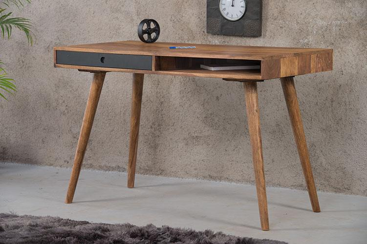 Solid Wood Eva Study Table with Drawer
