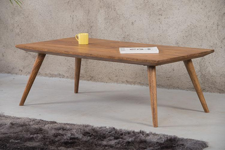 Solid Wood Buck Coffee Table with Round Legs