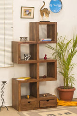 Solid Wood Charlie Drawer Bookcase