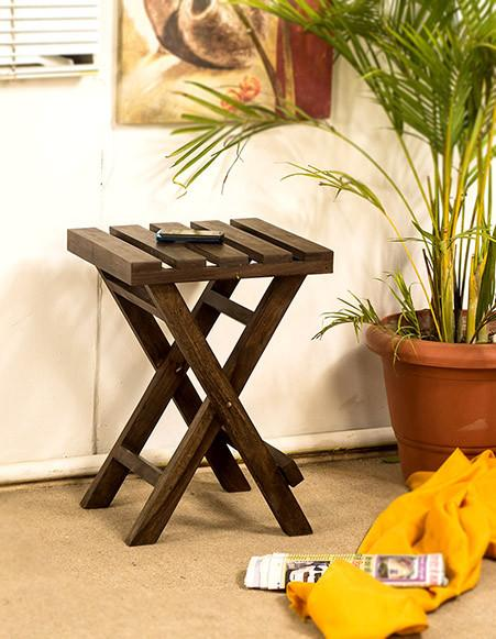 Solid Sheesham Wood Peg Table Furniture