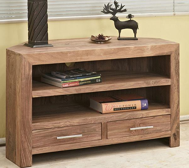Solid Wood Durban Corner Tv unit