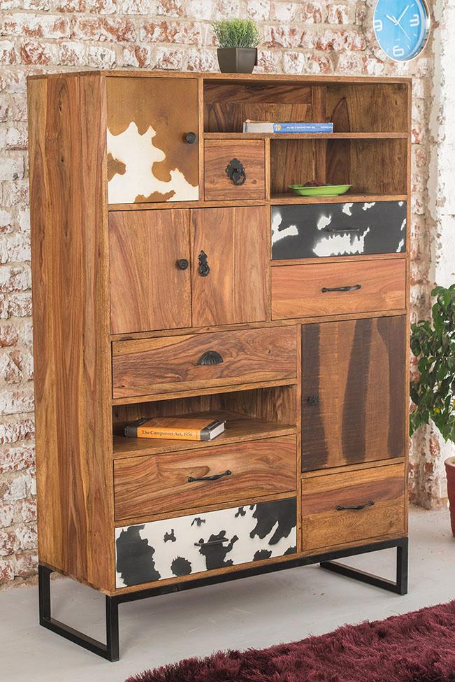 Solid Wood Wildress Highboard