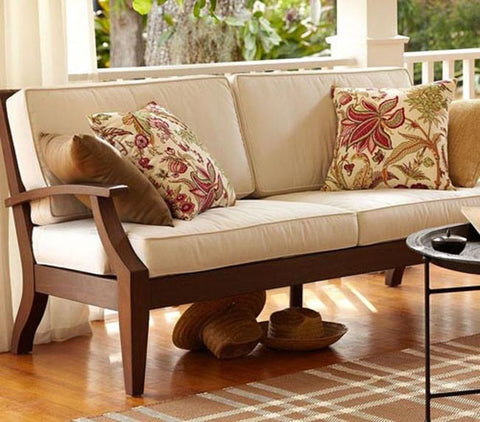 Solid wooden sofa saraf furniture for Hall furniture design sofa set
