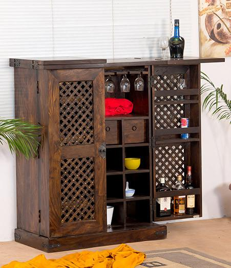 Solid Sheesham Wood Furniture - Jali Bar