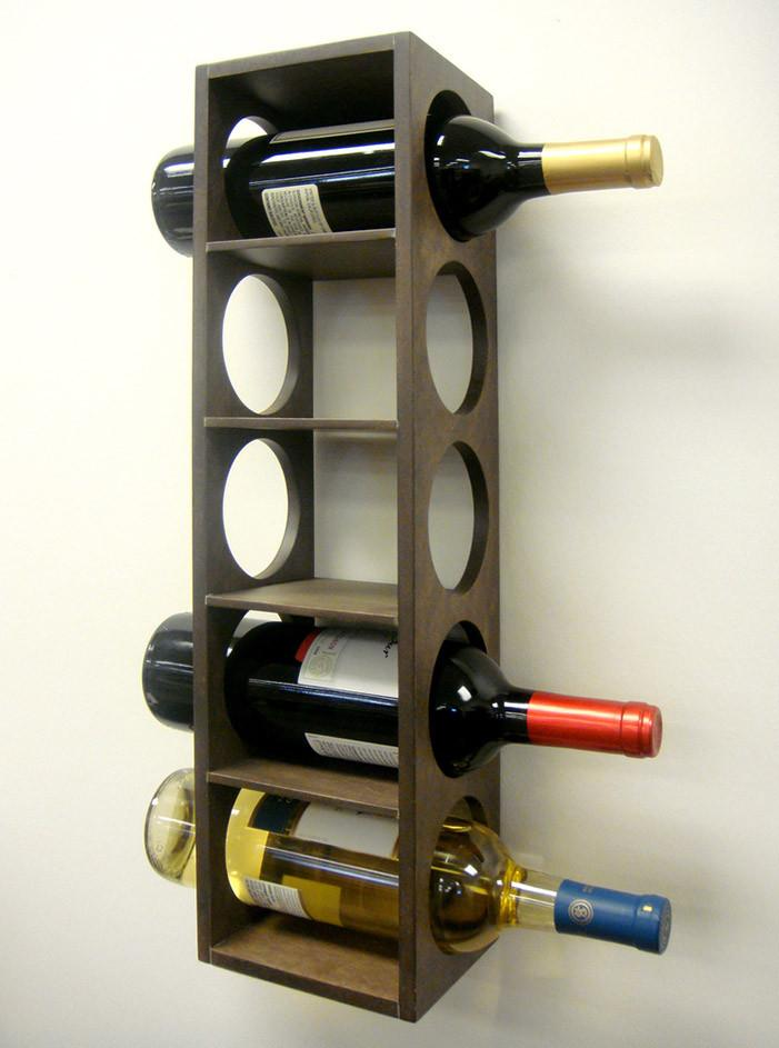 Solid Sheesham Wood Charlie Wine Rack Bar