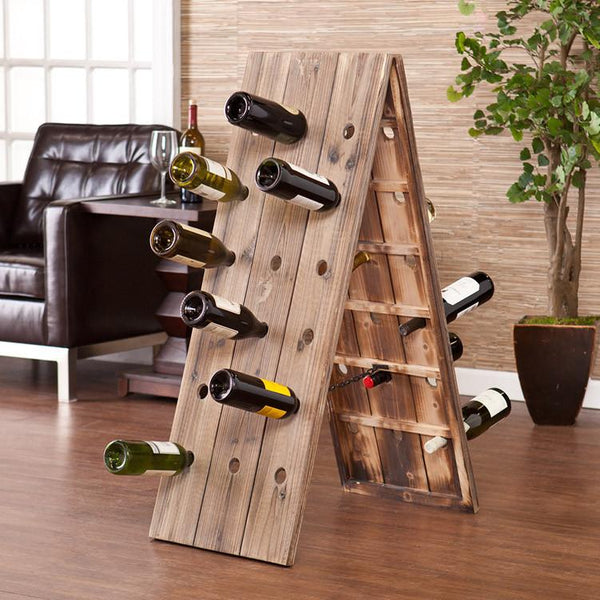 Solid Sheesham Wood Wine Rack Bar