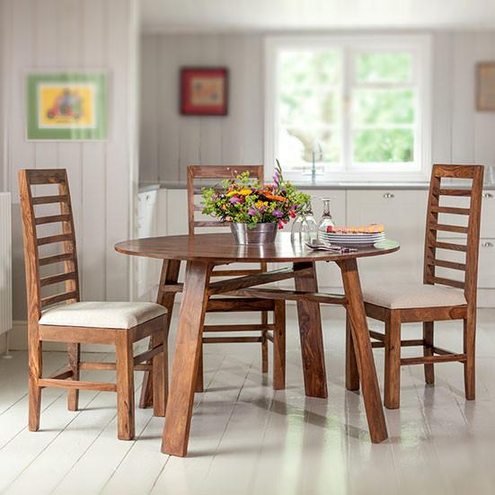 Solid Wood Jodhpur Round Dining Table Set