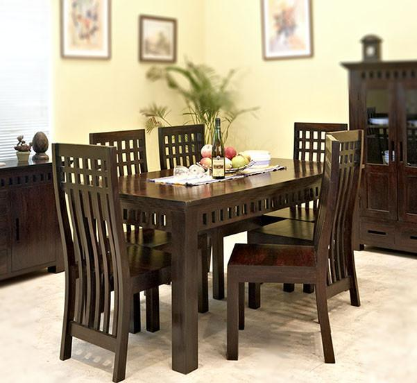 Solid Wood Kuber Dining Set with Bench