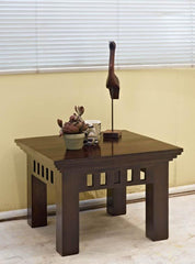 Solid Sheesham Wood Lamp Table - Kuber - 60 x 60 cms