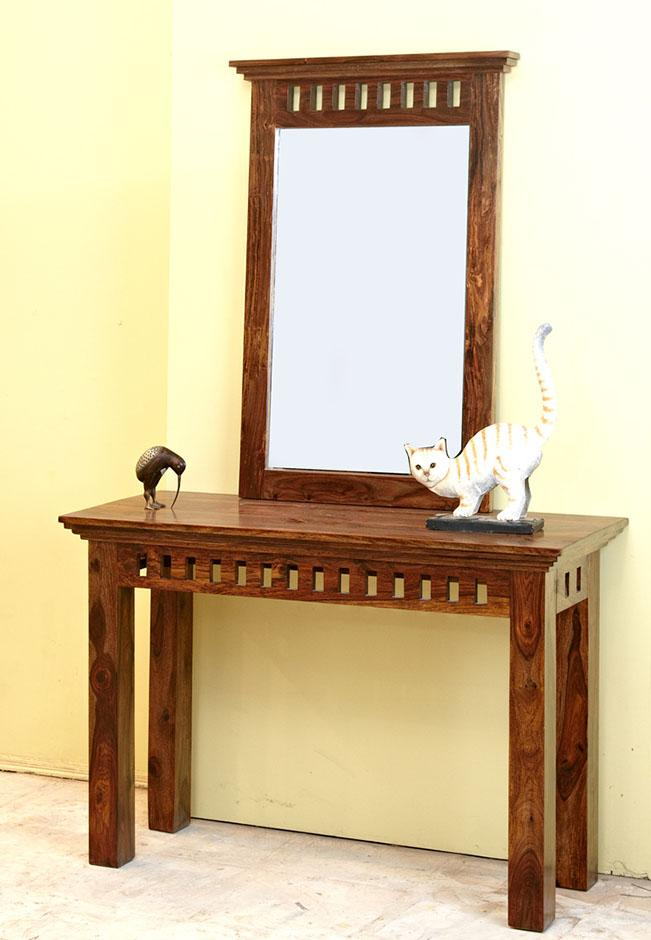 Solid Wood Kuber Console Table