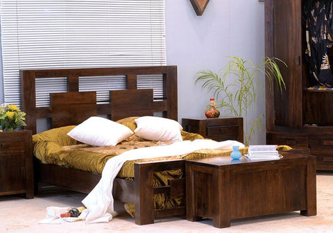 Solid Wood Romeo Bed A