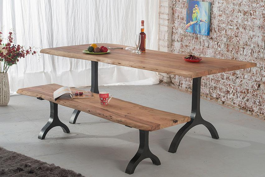 Solid Wood Indiana Mocha Dining Table
