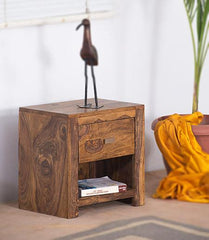 Solid Wood Turner Bedside Table
